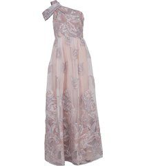 one shoulder fils coupe gown