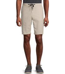 ezekiel men's vinny check shorts - sand - size 32