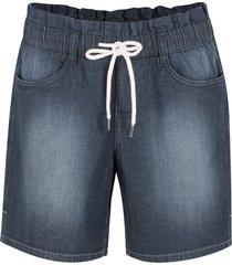 shorts paperbag in cotone elasticizzato con cinta comoda (nero) - bpc bonprix collection