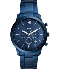 fossil neutra chronograph bracelet watch, 44mm in blue at nordstrom