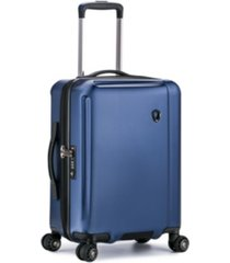 """traveler's choice halow 21"""" polycarbonate spinner suitcase"""