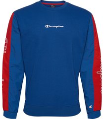 crewneck sweatshirt sweat-shirt tröja blå champion