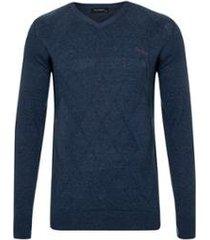 suéter tricot jacquard masculino