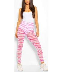 tie dye mesh legging, pink