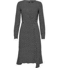 ls ecovero twist dress knälång klänning svart superdry