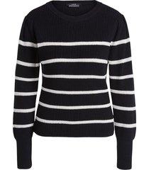 katoenen trui met fijne pof louise  zwart