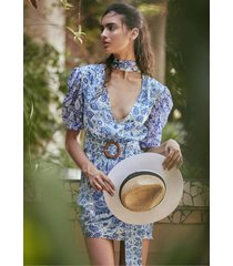 hemant & nandita suho mini dress blue