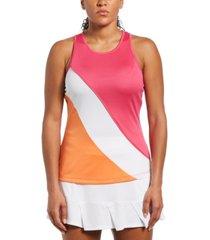 grand slam women's colorblocked back-cutout tank top