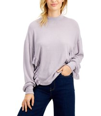 freshman juniors' ruffled hacci-knit top