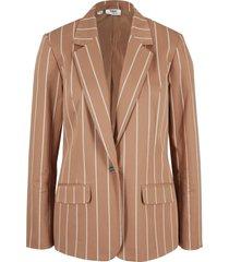 blazer in twill gessato (marrone) - bpc bonprix collection