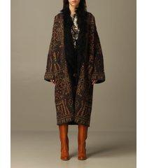 etro coat etro coat in wool and mohair