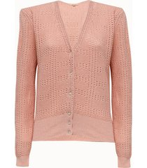 bellerose cardigan in cotone rosa
