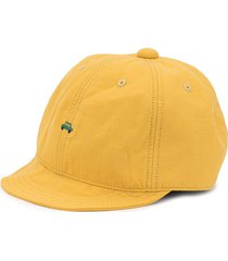 familiar embroidered logo cap - yellow