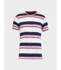 camiseta cuello redondo rayas para hombre 08684