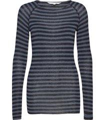 amalie medium stripe t-shirts & tops long-sleeved zwart gai+lisva