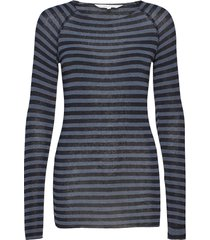 amalie medium stripe t-shirts & tops long-sleeved zwart gai+lisva
