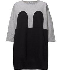 mickey square dress korte jurk zwart r/h studio