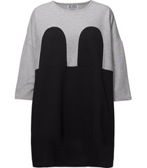 mickey square dress korte jurk zwart r/h studio