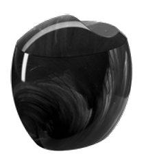 porta-algodão/cotonetes spoom 10,8 x 10,6 x 8,5 cm mármore preto coza mármore preto coza