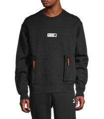puma men's parquet sweatshirt - black - size l