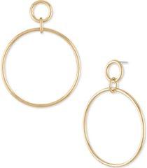 rachel rachel roy gold-tone large drop hoop earrings