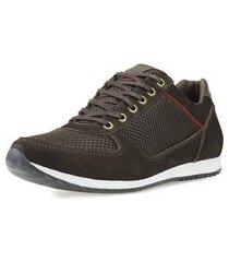 sapatênis dhl calçados casual neway florense marrom