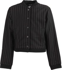 striped techno fabric jacket