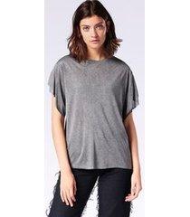 camiseta diesel t-peta-b   feminina preta