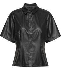new skin shila blouses short-sleeved zwart mads nørgaard