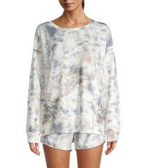 allison new york women's tie-dye sweatshirt - grey - size s