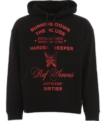 raf simons printed hoodie