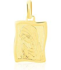 ciondolo medaglia madonna in oro giallo per unisex