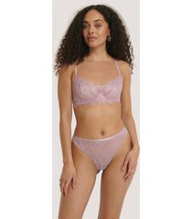 na-kd lingerie scalloped lace high waist panty - purple