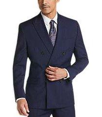lauren by ralph lauren navy stripe classic fit suit