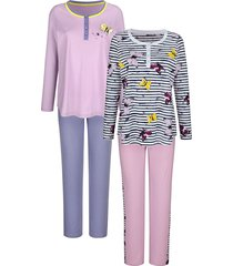 pyjama's per 2 stuks blue moon wit::lila::lavendel