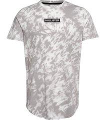 graphic t-shirt t-shirts short-sleeved grå hollister
