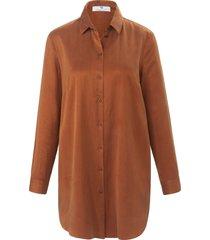 lange blouse lange mouwen van peter hahn bruin