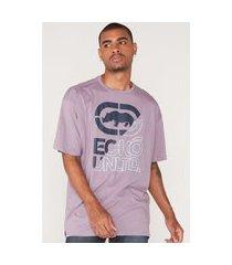 camiseta ecko plus size estampada roxa