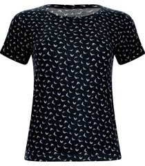 camiseta aves color negro, talla s