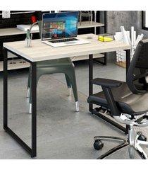 mesa escrivaninha office kuadra snow 8395 - compace