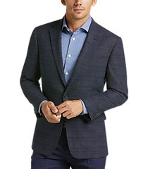 awearness kenneth cole navy check slim fit sport coat
