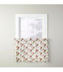 """cardinals & berries 24"""" window tier set"""
