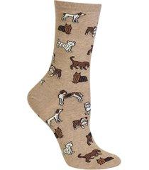 hot sox women's dogs fashion crew socks
