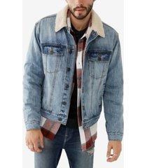 men's sherpa denim jacket