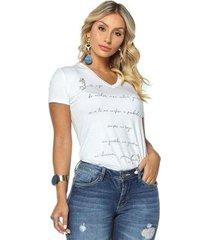 t-shirt daniela cristina gola v 02 602dc10285 branco g - feminino