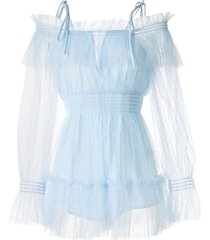 alice mccall crystal skies playsuit - blue