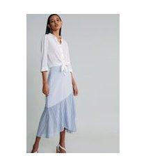 lez a lez - camisa manga 3/4 clássica branco off white