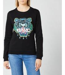 kenzo women's classic tiger slim sweatshirt - black - m