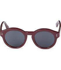 stella mccartney women's 48mm round sunglasses - red