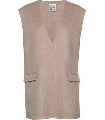 alcoba vests knitted vests beige totême